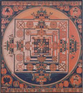 Мандала «Колесо времени»Тибет, XVI век
